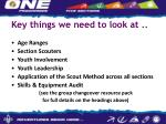 key things we need to look at