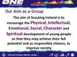 our aim as a group
