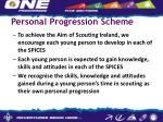 personal progression scheme