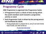 programme cycle