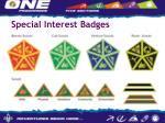 special interest badges