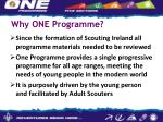why one programme