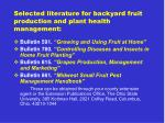 selected literature for backyard fruit production and plant health management