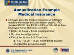 annualization example medical insurance