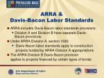 arra davis bacon labor standards