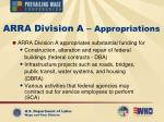 arra division a appropriations