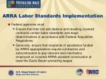 arra labor standards implementation