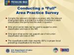 conducting a full area practice survey24