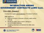 interaction among government contracts laws cont41