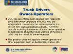 truck drivers owner operators