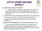 little pump has big effect