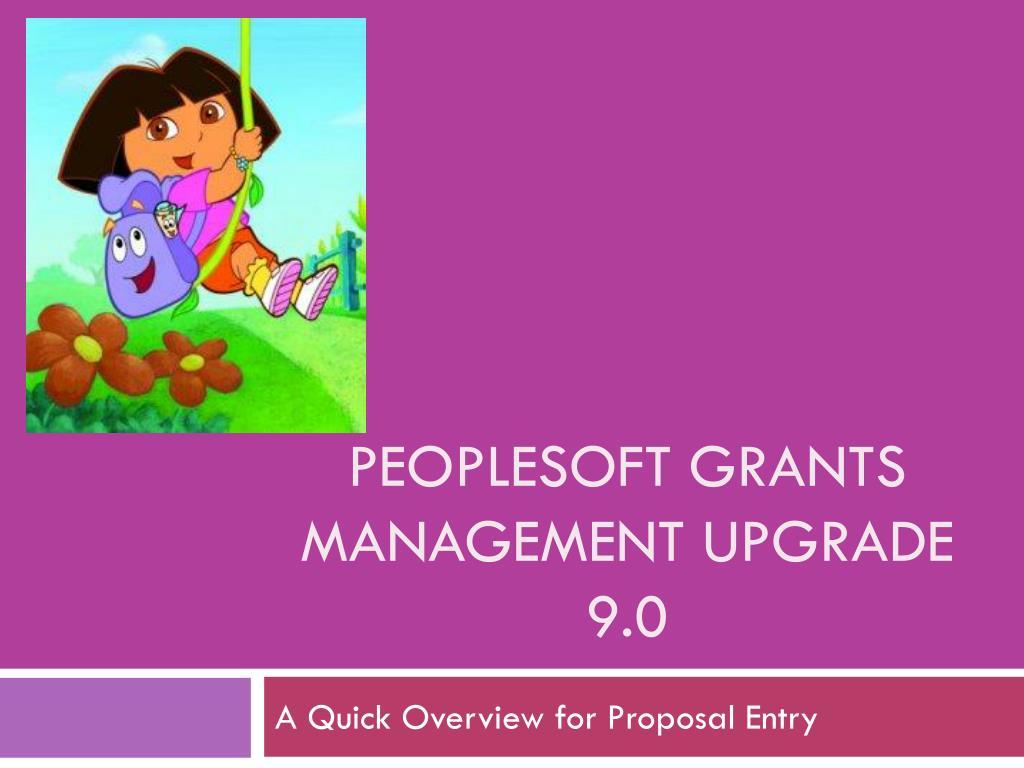 peoplesoft grants management upgrade 9 0 l.