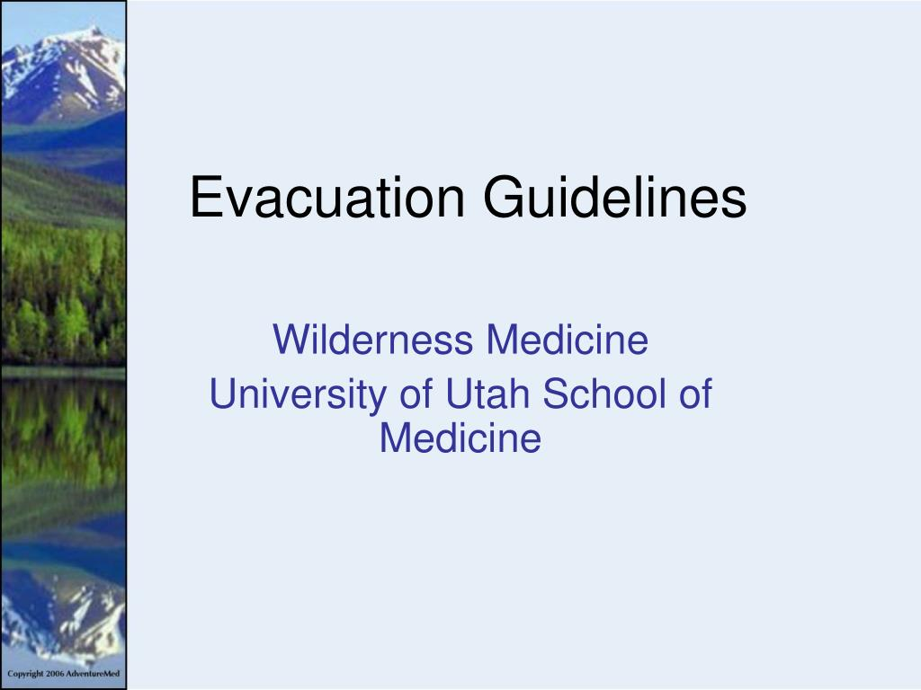 evacuation guidelines l.