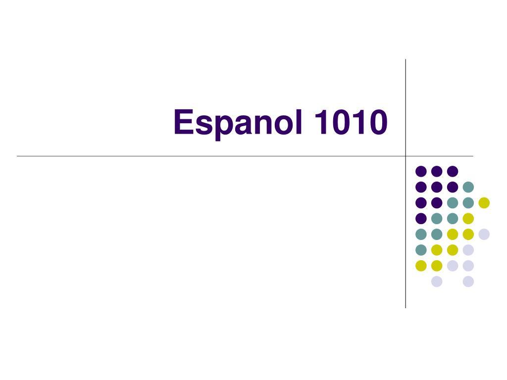 espanol 1010 l.