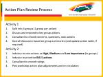 action plan review process