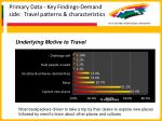 primary data key findings demand side travel patterns characteristics