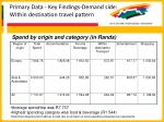 primary data key findings demand side within destination travel pattern58