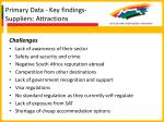primary data key findings suppliers attractions43