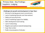 primary data key findings suppliers lodging36