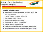 primary data key findings suppliers lodging37