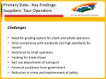 primary data key findings suppliers tour operators39