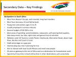 secondary data key findings15