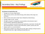 secondary data key findings17