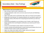 secondary data key findings21