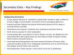 secondary data key findings25