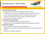 secondary data key findings28