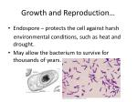 growth and reproduction12