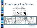 example avoid line crossing