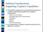 solution considerations supporting cognitive capabilities