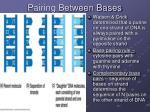 pairing between bases
