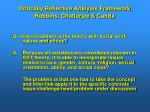 critically reflective analysis framework robbins chatterjee canda50