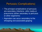 pertussis complications