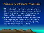 pertussis control and prevention73