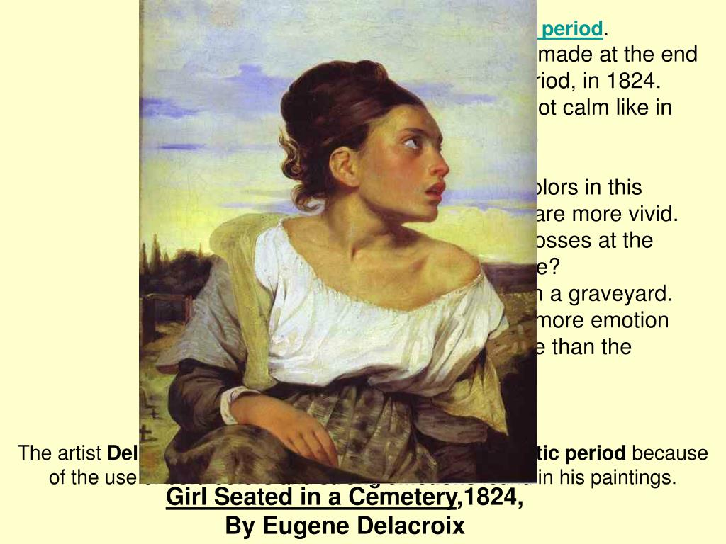 Girl Seated in a Cemetery