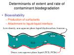 determinants of extent and rate of contaminant biodegradation18