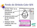 fondo de s mbolo color b n