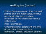 mefloquine larium