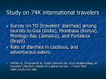 study on 74k international travelers