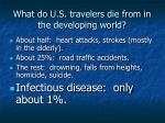 what do u s travelers die from in the developing world