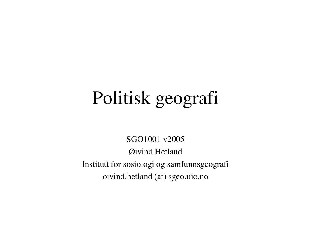 politisk geografi l.