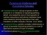 functional modules and functional groups