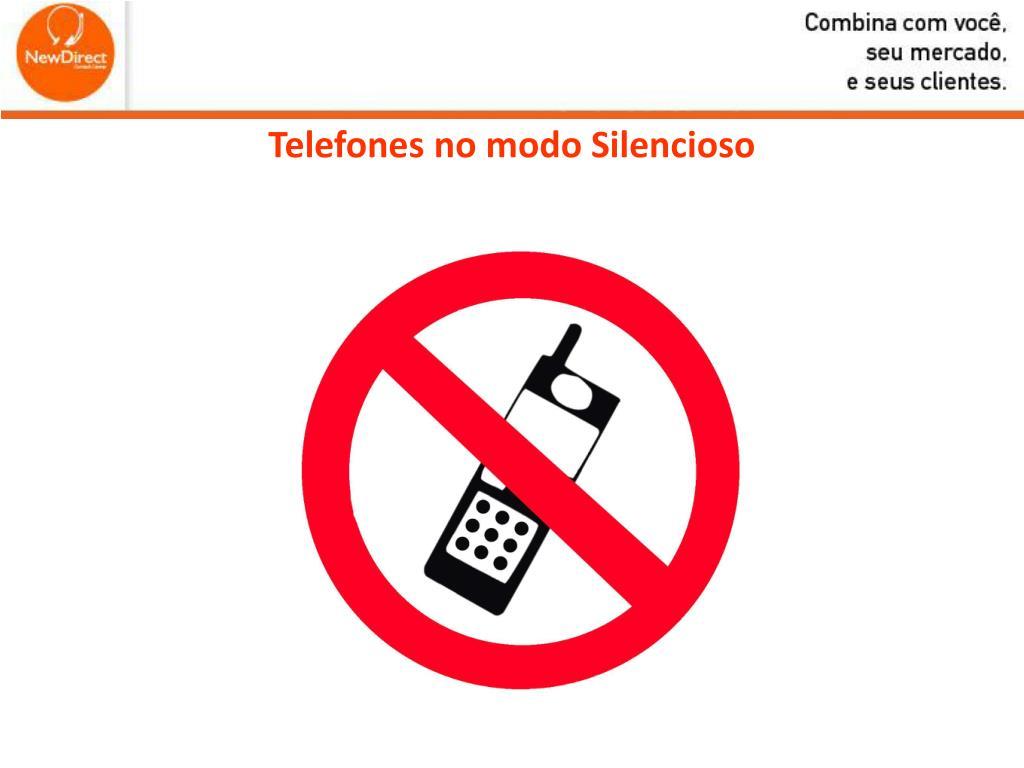 telefones no modo silencioso l.