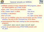 general remarks on wien2k