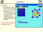 phonon i