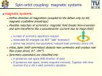 spin orbit coupling magnetic systems