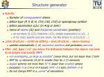 structure generator